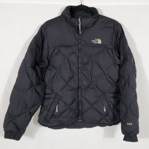 North Face Quilted Black Puffer Coat•Size S•